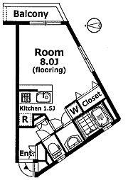 東京都世田谷区駒沢3丁目の賃貸マンションの間取り