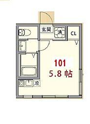 東京都板橋区弥生町の賃貸アパートの間取り