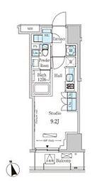 パークアクシス南青山七丁目 4階ワンルームの間取り