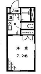 Aフラッツ[1階]の間取り