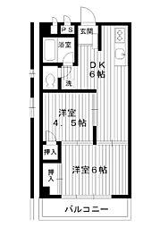 東京都練馬区練馬1丁目の賃貸マンションの間取り