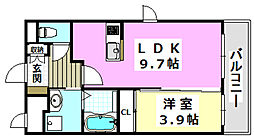 阪急京都本線 南茨木駅 徒歩28分の賃貸マンション 1階1LDKの間取り