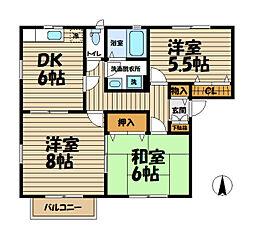 プラセール鎌倉[2階]の間取り