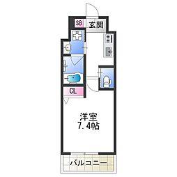 FDS PLACZ SHIN-OSAKA 9階1Kの間取り