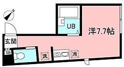 京王井の頭線 三鷹台駅 徒歩12分の賃貸アパート 1階ワンルームの間取り
