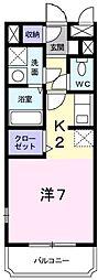 レスポワールF[2階]の間取り
