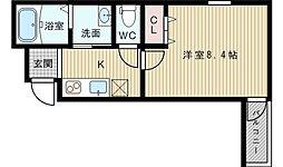 フジパレス東淀川3番館[2階]の間取り