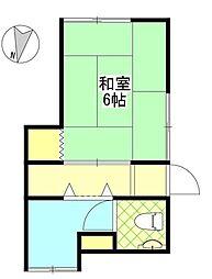 三栄荘[1F号室]の間取り