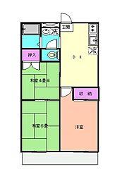 杉山マンション[306号室]の間取り