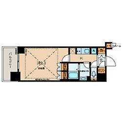 都営三田線 春日駅 徒歩1分の賃貸マンション 16階1Kの間取り