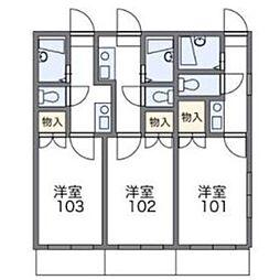 西片江IIレジデンス[101号室]の間取り