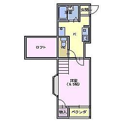 シェル エトワーレ[1階]の間取り
