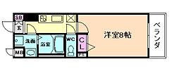 アドバンス西梅田IIIエミネンス[11階]の間取り