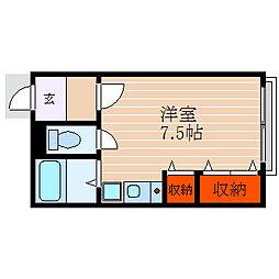 滋賀県彦根市栄町1丁目の賃貸アパートの間取り