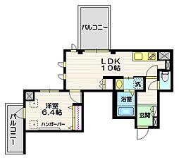(仮称)富士見台4丁目HBS計画 5階1LDKの間取り