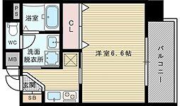 プレミアムステージ新大阪駅前[10階]の間取り