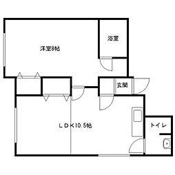 第23藤栄ビル[201号室]の間取り