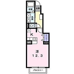 愛知環状鉄道 三河上郷駅 徒歩6分の賃貸アパート 1階1Kの間取り