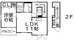 シャルムドシーレ[2階]の間取り