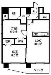 北海道札幌市中央区北二条西17丁目の賃貸マンションの間取り