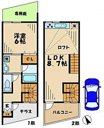 神奈川県川崎市麻生区黒川の賃貸アパートの間取り
