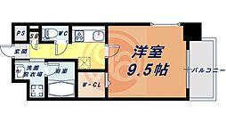 Osaka Metro四つ橋線 花園町駅 徒歩13分の賃貸マンション 8階1Kの間取り