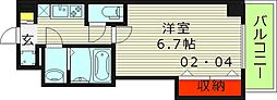 Osaka Metro谷町線 都島駅 徒歩8分の賃貸マンション 7階1Kの間取り