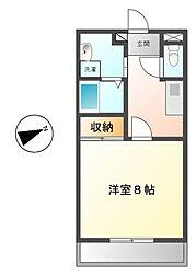 愛知県豊田市丸山町4丁目の賃貸アパートの間取り