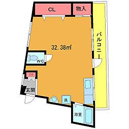 パートナー八幡ビル[4階]の間取り