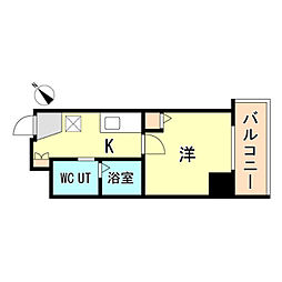 JR東海道・山陽本線 神戸駅 徒歩15分の賃貸マンション 10階1Kの間取り
