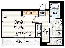 JR山手線 鶯谷駅 徒歩5分の賃貸マンション 3階1Kの間取り