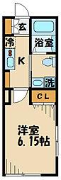 (仮)清水が丘1丁目共同住宅 1階1Kの間取り