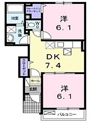 セトルYUUZAKI[1階]の間取り