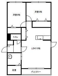 北海道札幌市豊平区美園二条6丁目の賃貸マンションの間取り