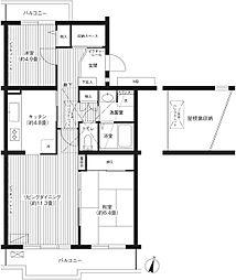 グランコート与野本町[4階]の間取り