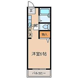 神奈川県横浜市保土ケ谷区岩間町1丁目の賃貸アパートの間取り