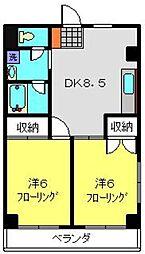 神奈川県横浜市南区清水ケ丘の賃貸マンションの間取り