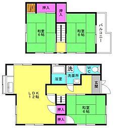 [一戸建] 兵庫県加古川市野口町長砂 の賃貸【/】の間取り