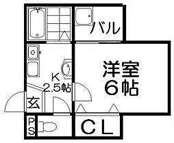 URO桜木[3階]の間取り