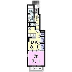 M、S Apartment[1階]の間取り