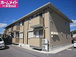愛知県豊田市上郷町島姫の賃貸アパートの外観