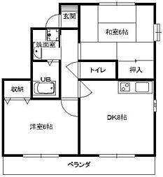 カワツルセブン[2階]の間取り