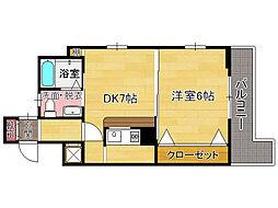 ピュアドームアートフル平尾[6階]の間取り