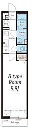 東武東上線 みずほ台駅 徒歩9分の賃貸アパート 2階1Kの間取り