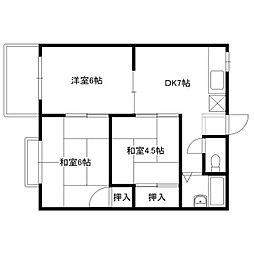 福岡県福岡市早良区飯倉8丁目の賃貸アパートの間取り