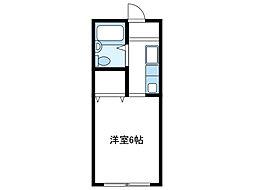 神奈川県厚木市三田の賃貸マンションの間取り