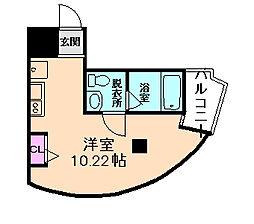 パークフロント北梅田[11階]の間取り