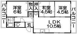 芳園マンション[1階]の間取り