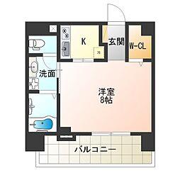 レジュールアッシュ梅田WEST[4階]の間取り