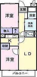 埼玉県さいたま市緑区大字上野田の賃貸マンションの間取り